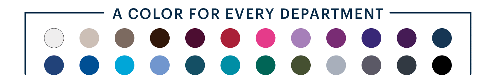 Color for every department